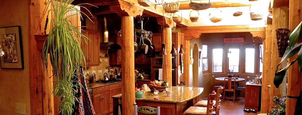 Custom kitchen construction in Taos, New Mexico
