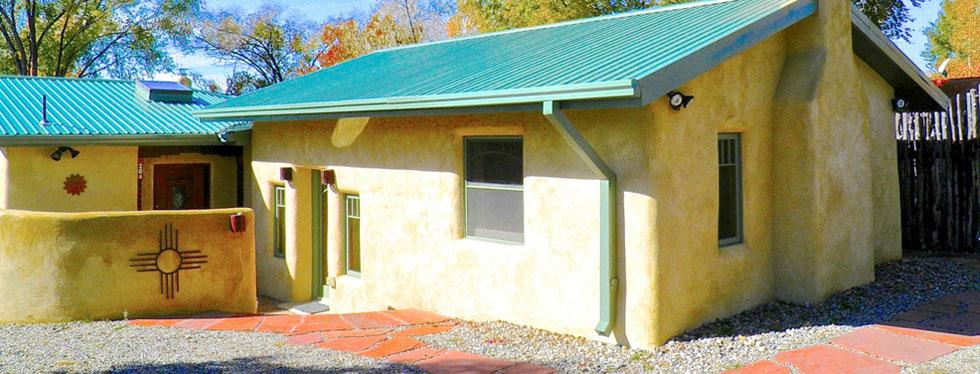 Custom adobe home construction in Taos, New Mexico